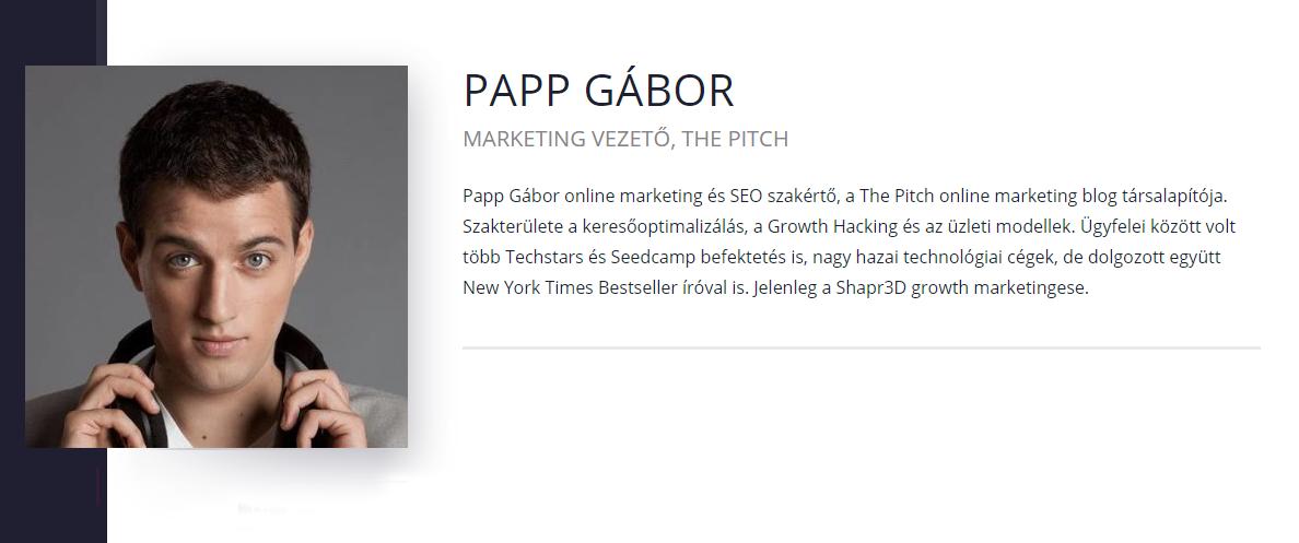Papp Gábor- The Pitch