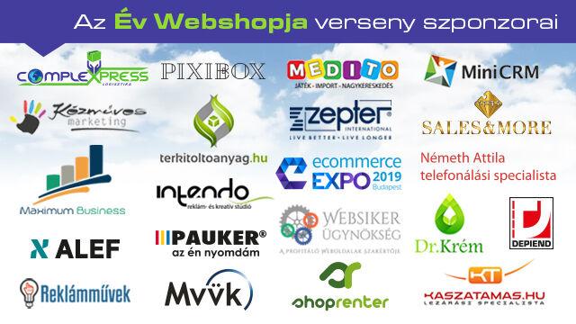 Az Év Webshopja 2018 - szonzorok