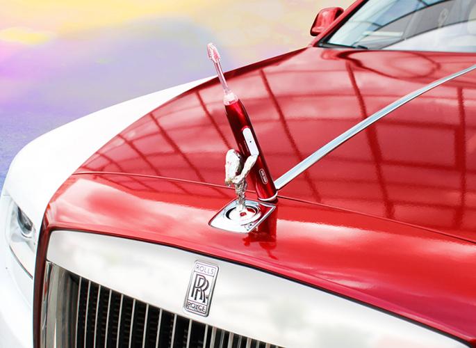 Emmi®- dent Metallic - ultrahangos fogkefe - Rolls Royce Red limitált kiadás