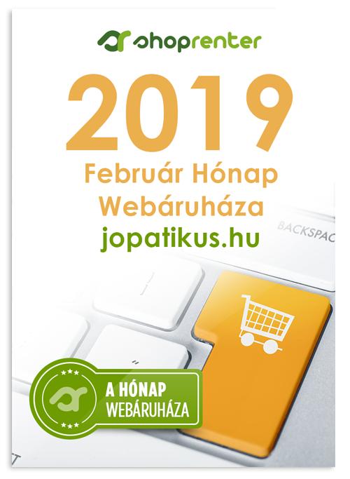 A Hónap Webáruháza 2019 február - jopatikus.hu