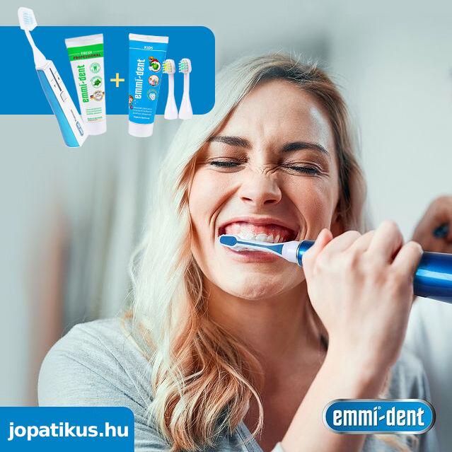 Emmi-dent ultrahangos működésű elektromos fogkefe - jópatikus