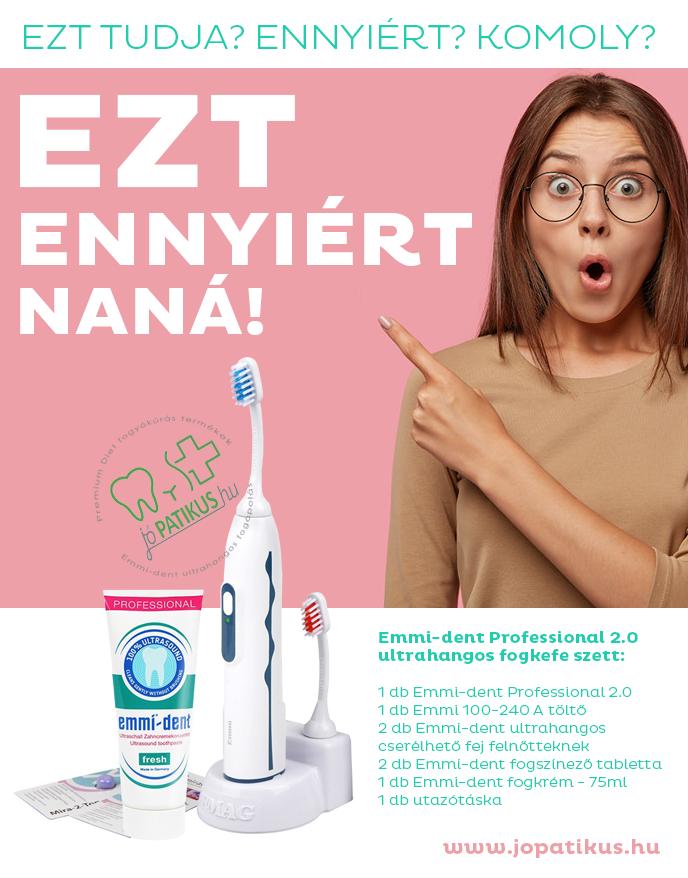 Emmi-dent Professional 2.0 ultrahangos működésű elektromos fogkefe - jópatikus