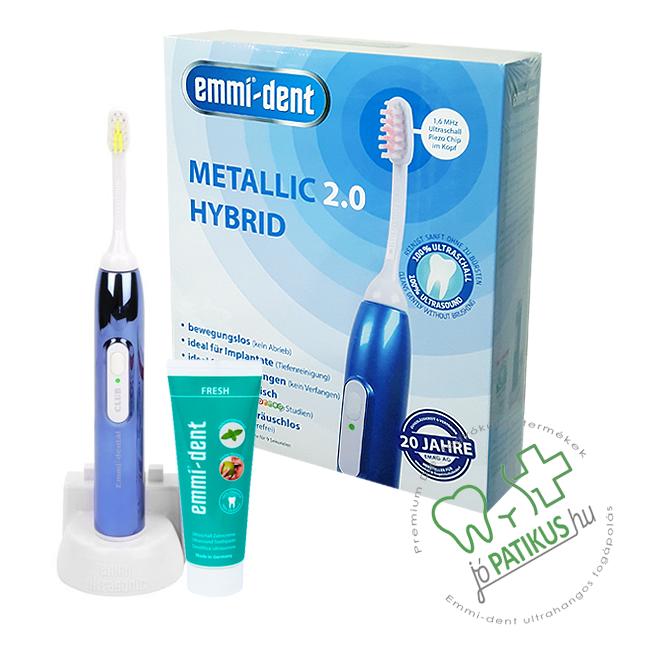 Emmi®- dent Metallic 2.0 Hybrid - ultrahangos fogkefe - jopatikus.hu