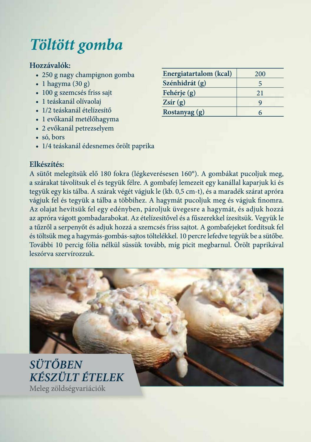 Diétás receptek - Töltött gomba - jópatikus