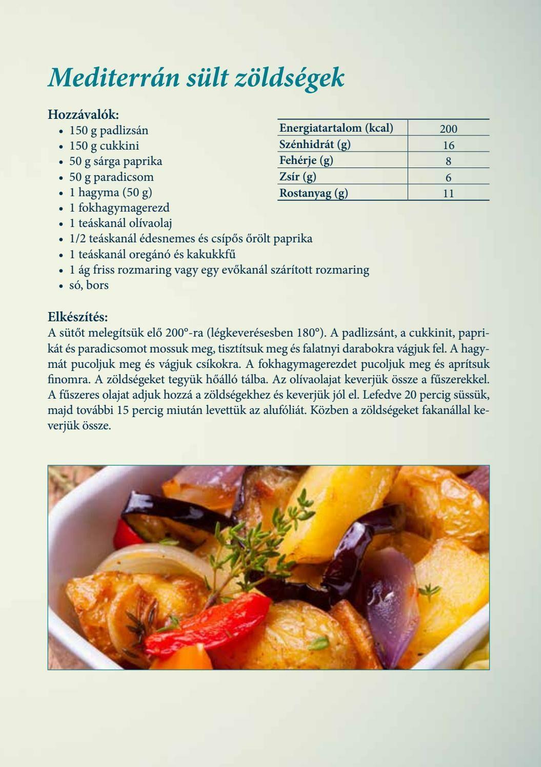 Diétás receptek - Mediterrán sült zöldségek - jópatikus