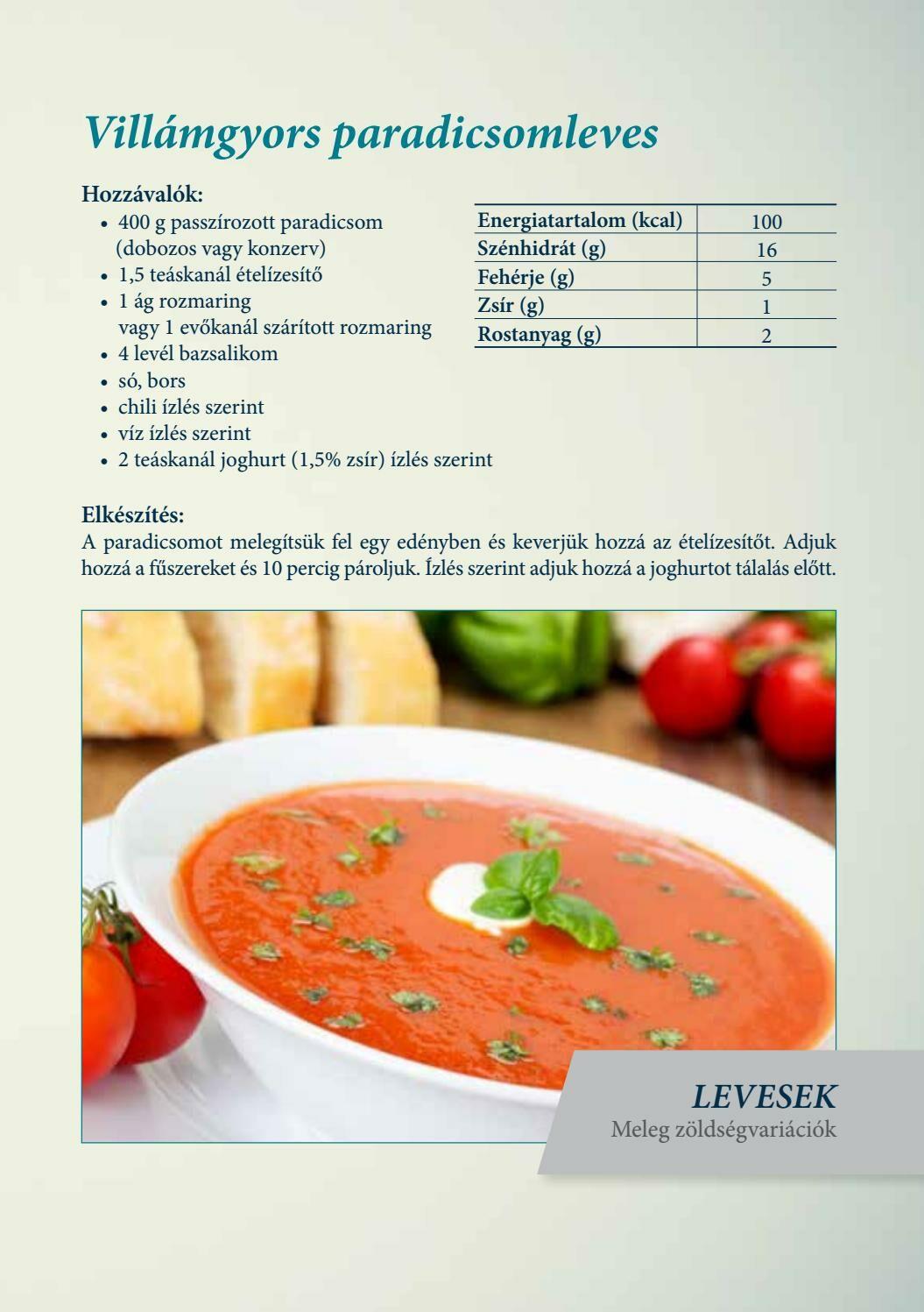 Diétás receptek - paradicsomleves - jópatikus