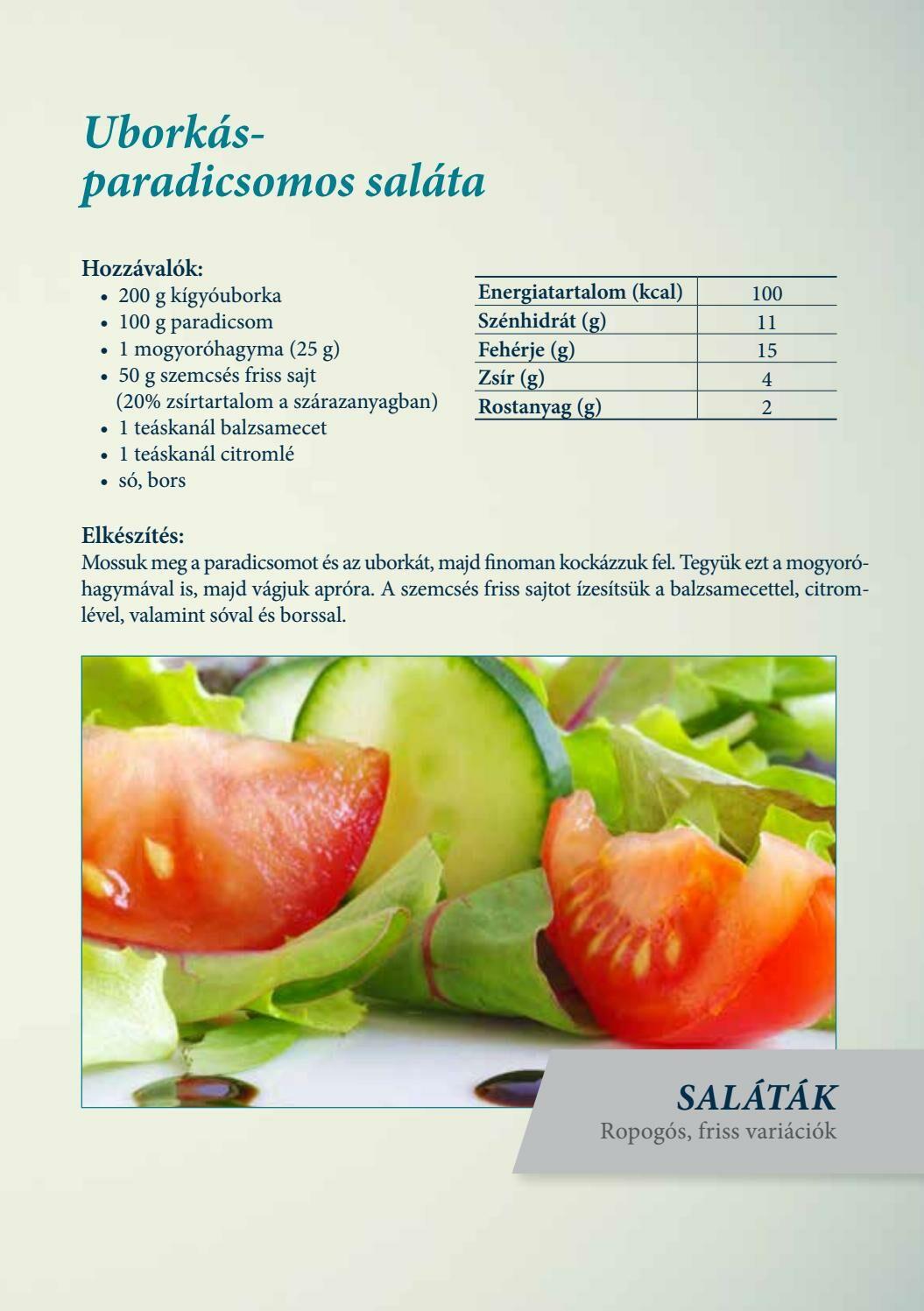 Diétás receptek- uborkás paradicsomos saláta