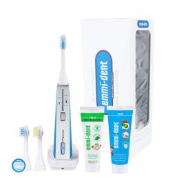 Emmi-dent Platinum ultrahangos fogkefe kék + Emmi-dent fogkrémek+fogkefefejek