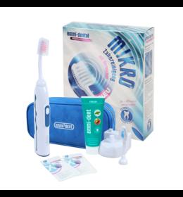 Emmi-dent Professional 2.0 ultrahangos fogkefe + fogkrém + pótfej + fogszínező tabletták + utazótáska