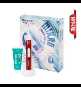 Emmi-dent Metallic ultrahangos fogkefe piros + Emmi-dent fogkrém - limitált kiadás