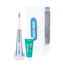 Emmi-dent Platinum ultrahangos fogkefe kék + Emmi-dent fogkrém