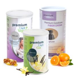 Premium Diet akciós induló csomag 1 - Go, +Relax, Fiberdrink