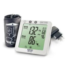 Nissei DSK-1031A automata, felkaros vérnyomásmérő, hálózati adapterrel
