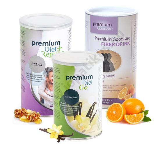Premium Diet akciós induló csomag 1 - Go, +Relax, Fibre