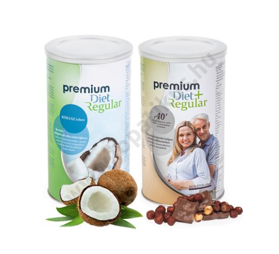 Premium Diet Regular - Kókusz ízű + Nugátos ízű